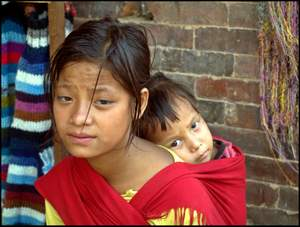 Poem about a poverty stricken young mother in upland Nepal