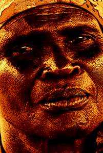 Image accompanies a short story about an old woman's reminiscences about the Biafran war